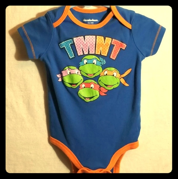 Baby Boy Teenage Mutant Ninja Turtles 2 Bodysuits Size 3 6 9 Months Long Sleeve